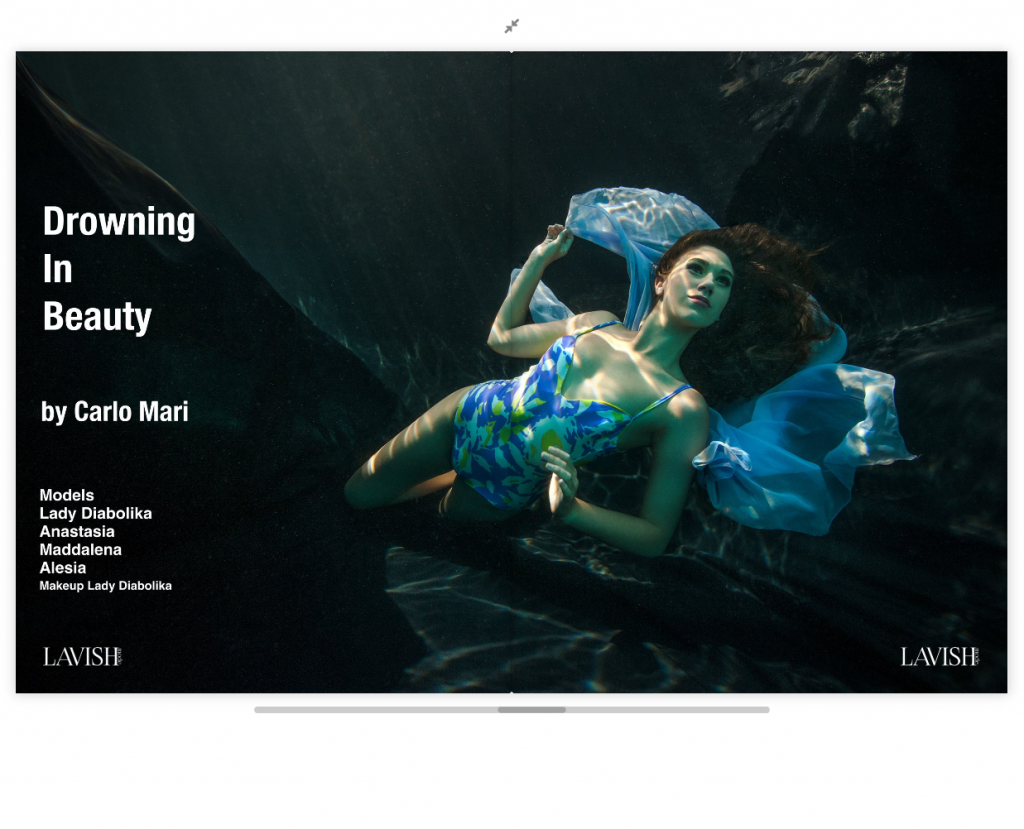 Drowning in Beauty editorial by Carlo Mari | Lavish Mode magazine – Issue 4 : Désir