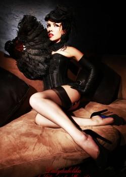 Ladydiabolika Design Black Hat | Collar | Corset