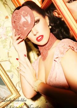 Ladydiabolika Design pink Hat | Collar